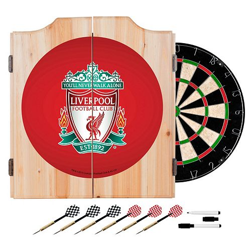 Liverpool FC Cabinet Dart Board Set