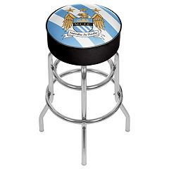 Manchester City FC Swiveling Chrome Bar Stool