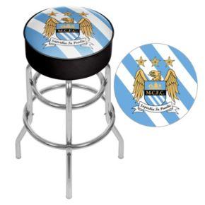 Manchester City FC Swiveling Chrome Bar Stool