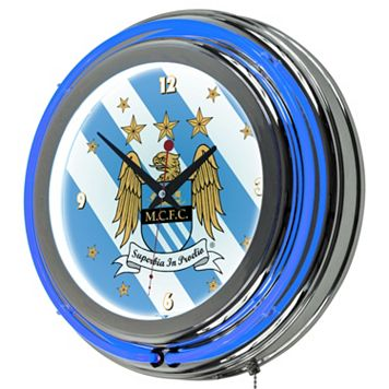 Manchester City FC Neon Wall Clock