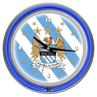 Manchester City FC Neon Wall Clock