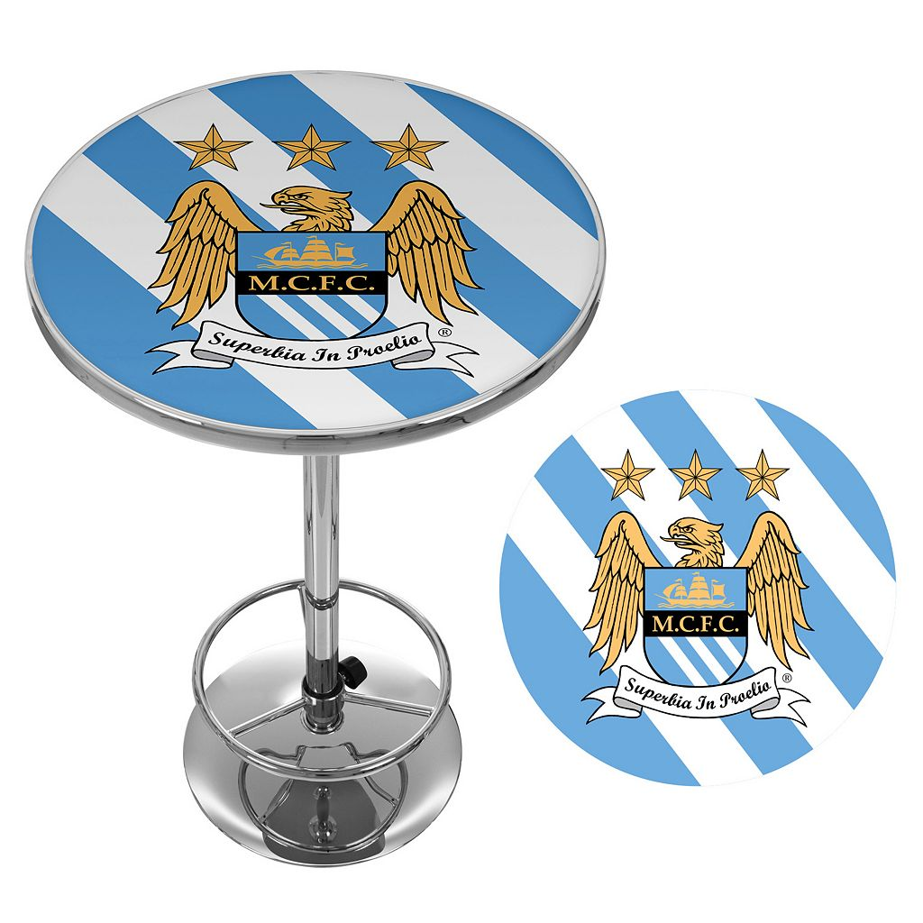 Manchester City FC Chrome Pub Table