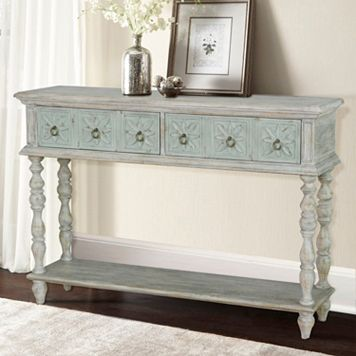 Pulaski Whitewash Console Table