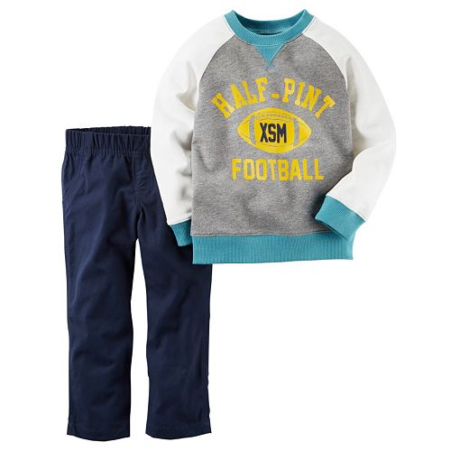 "Toddler Boy Carter's ""Half-Pint XSM Football"" Pullover & Pants Set"