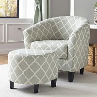 Pulaski Quatrefoil Upholstered Accent Chair & Ottoman 2-piece Set