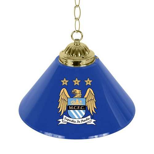 Manchester City FC Single Chrome Bar Lamp