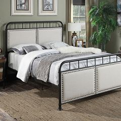 Pulaski All-N-One Queen Upholstered Metal Bed