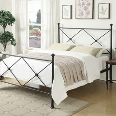 Pulaski All-N-One X-Frame Queen Metal Bed