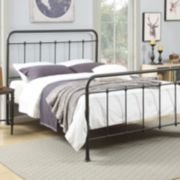 Pulaski All-N-One Queen Curved Metal Bed