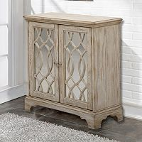 Pulaski White Fretwork Storage Cabinet