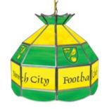 Norwich City FC Hanging Tiffany Lamp