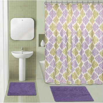 Popular Bath Diamond Medallion Chenille 15-piece Bath Set