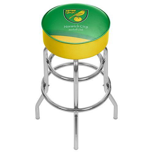 Norwich City FC Swiveling Chrome Bar Stool