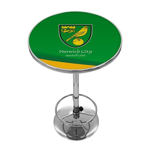 Norwich City FC Chrome Pub Table