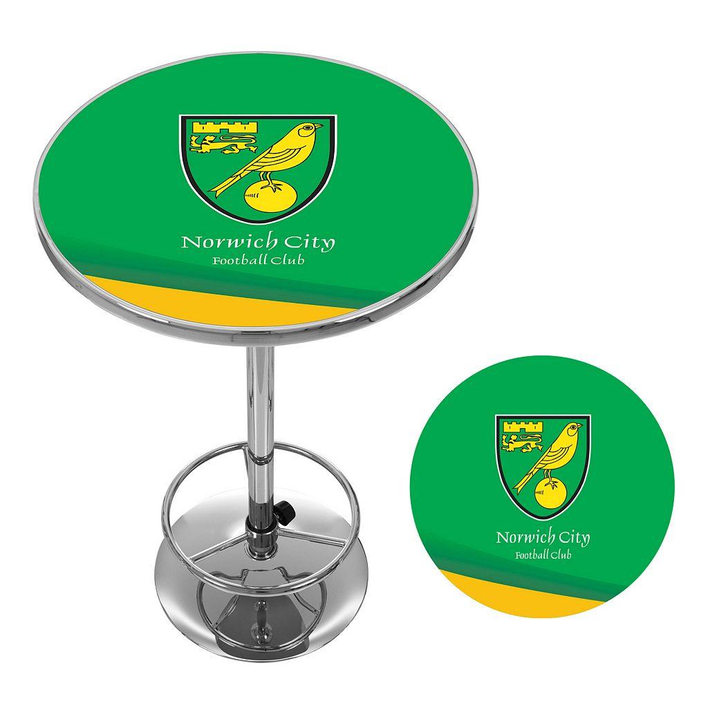Norwich City FC Chrome Pub Table