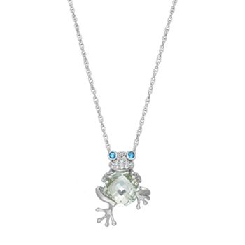 silver necklace x frog pendant chain on dp size sterling