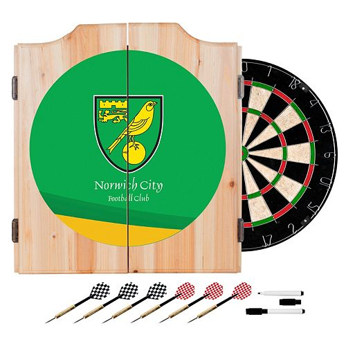 Norwich City FC Cabinet Dart Board Set