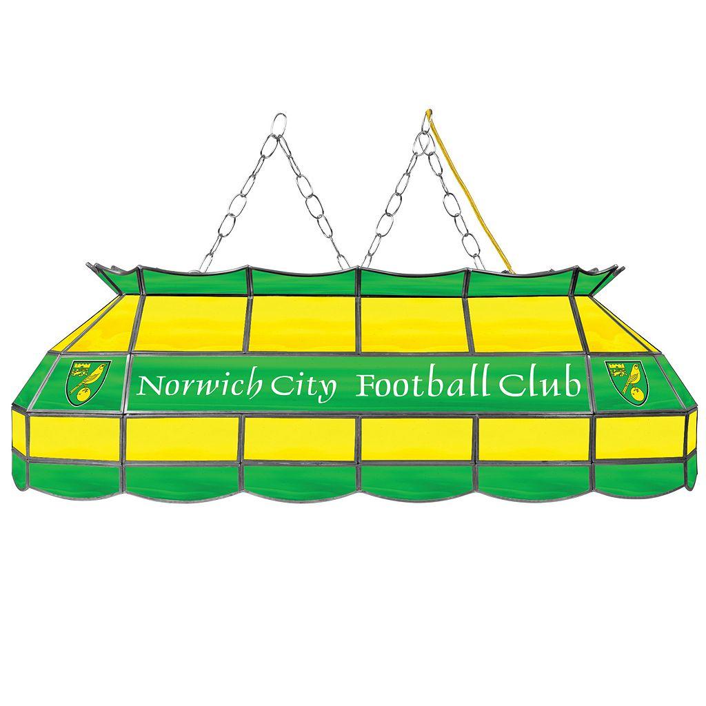 Norwich City FC Hanging Tiffany Bar Lamp