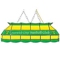 Norwich City FC Hanging Tiffany Bar Lamp