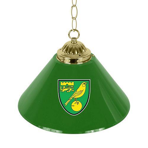 Norwich City FC Single Chrome Bar Lamp