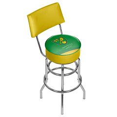 Norwich City FC Swiveling Chrome Bar Stool with Back
