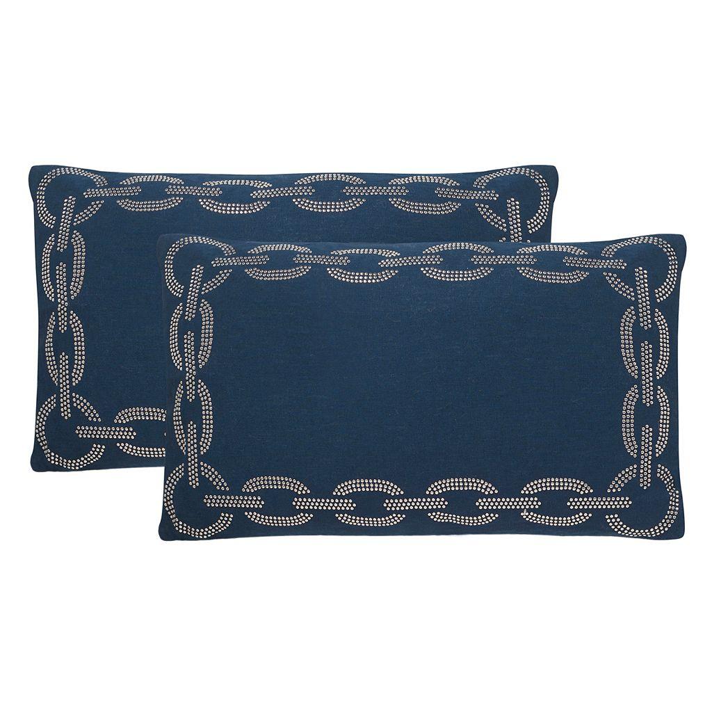 Safavieh Sibine Embroidered Throw Pillow 2-piece Set