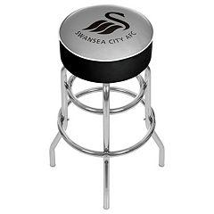 Swansea City AFC Swiveling Chrome Bar Stool