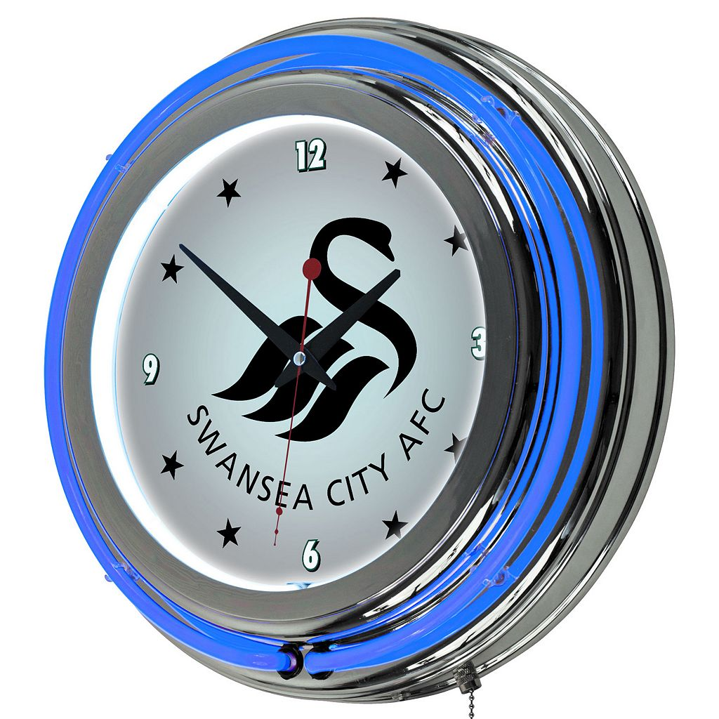 Swansea City AFC Neon Wall Clock