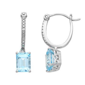Sterling Silver Sky Blue Topaz Drop Earrings