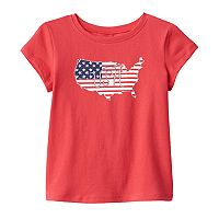 Toddler Girl Jumping Beans® Patriotic Glitter Tee