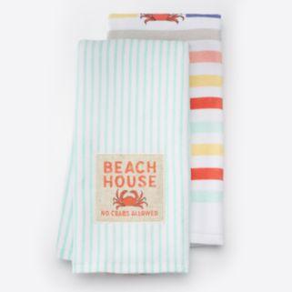 "Local Life ""Beach House"" Kitchen Towel 2-pk."