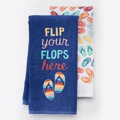 Local Life 'Flip Your Flops Here' Kitchen Towel 2 pk