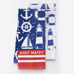 Local Life 'Ahoy Matey' Kitchen Towel 2 pk
