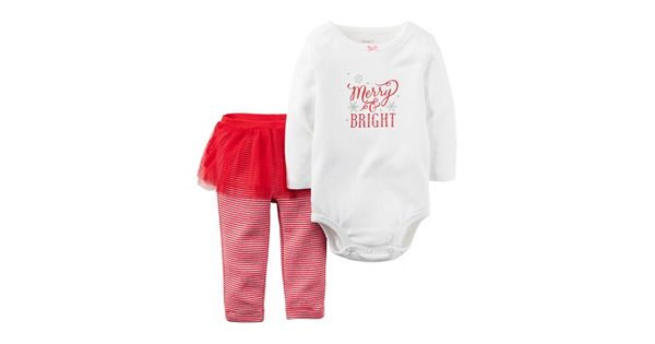 Baby Girl Carter S Quot Merry Amp Bright Quot Tee Amp Tutu Pants Set