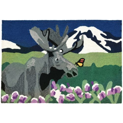 Trans Ocean Imports Liora Manne Frontporch Moose Meadow Indoor Outdoor Rug