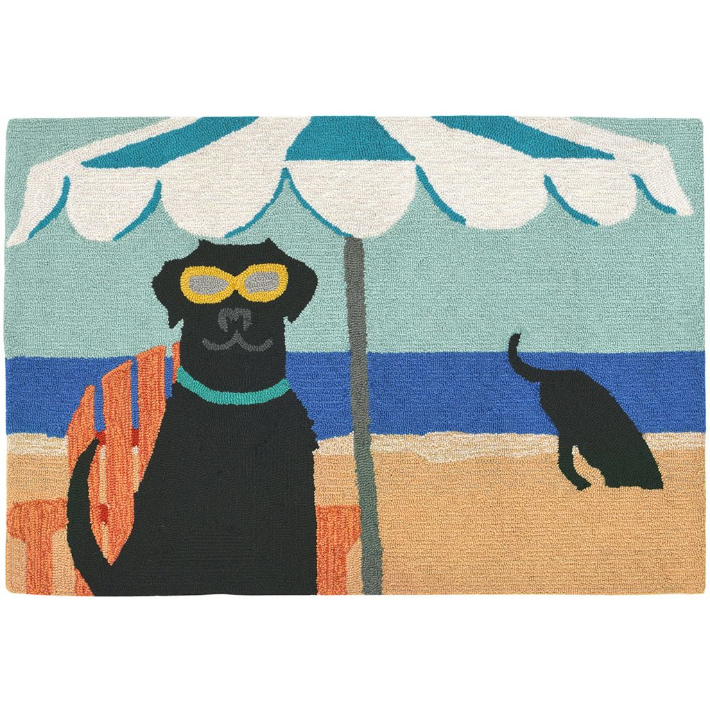 Trans Ocean Imports Liora Manne Frontporch Dig in the Beach Indoor Outdoor Rug