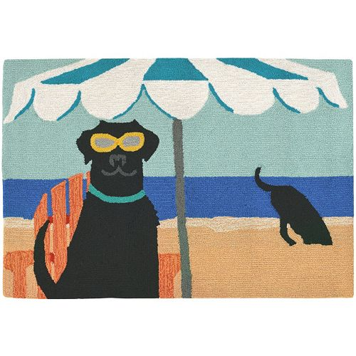 Liora Manne Frontporch Dig in the Beach Indoor Outdoor Rug
