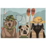 Liora Manne Frontporch Fishing Patrol Indoor Outdoor Rug
