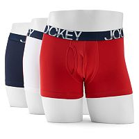 Men's Jockey 3-pk. Active Stretch Boxer Briefs