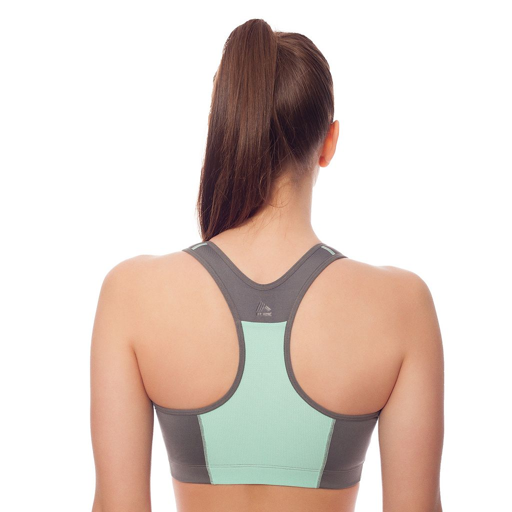 RBX Bra: Zip Front-Close High-Impact Sports Bra RBX017