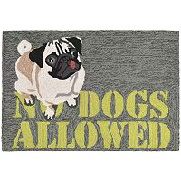 Trans Ocean Imports Liora Manne Frontporch No Dogs Allowed Indoor Outdoor Rug