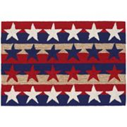 Liora Manne Frontporch Stars and Stripes Indoor Outdoor Rug