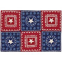 Trans Ocean Imports Liora Manne Frontporch Bandana Americana Indoor Outdoor Rug