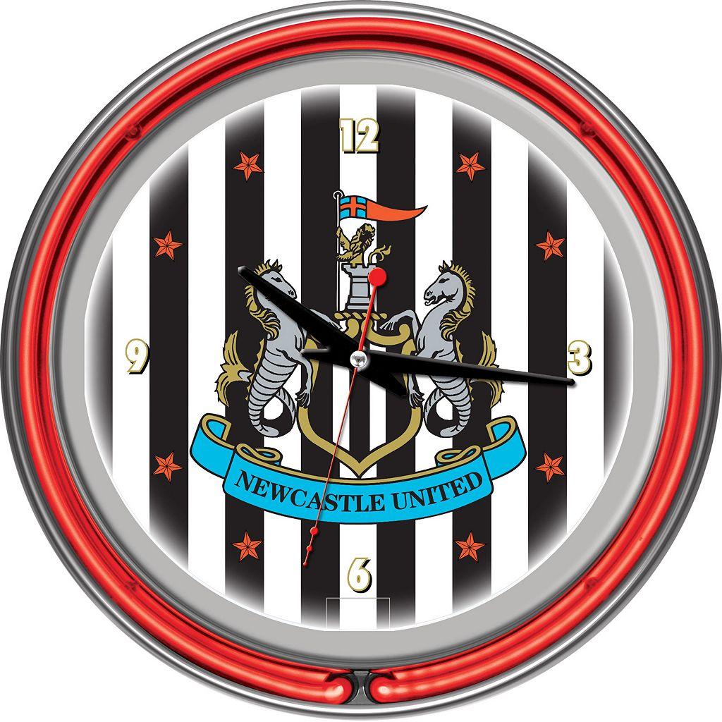Newcastle United FC Neon Wall Clock