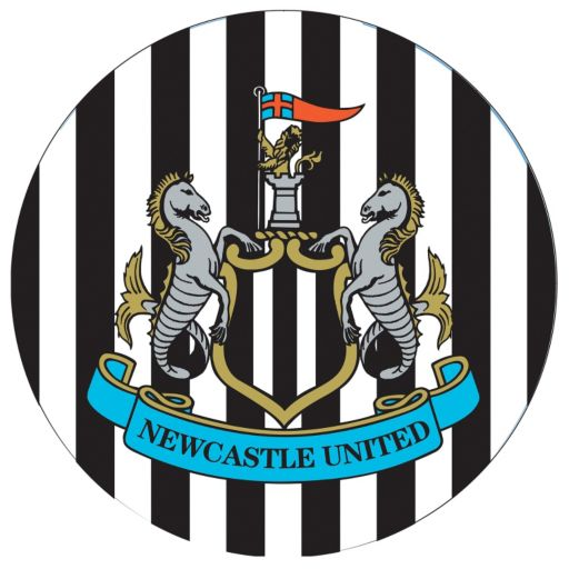 Newcastle United FC Chrome Pub Table
