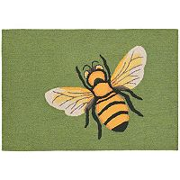 Trans Ocean Imports Liora Manne Frontporch Bee Indoor Outdoor Rug
