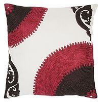 Rizzy Home Corner Bullseye Throw Pillow