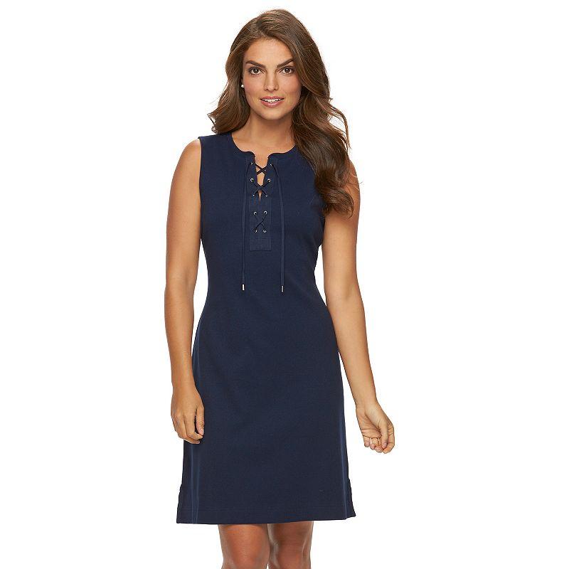 Women's Chaps Lace-Up Tank Dress