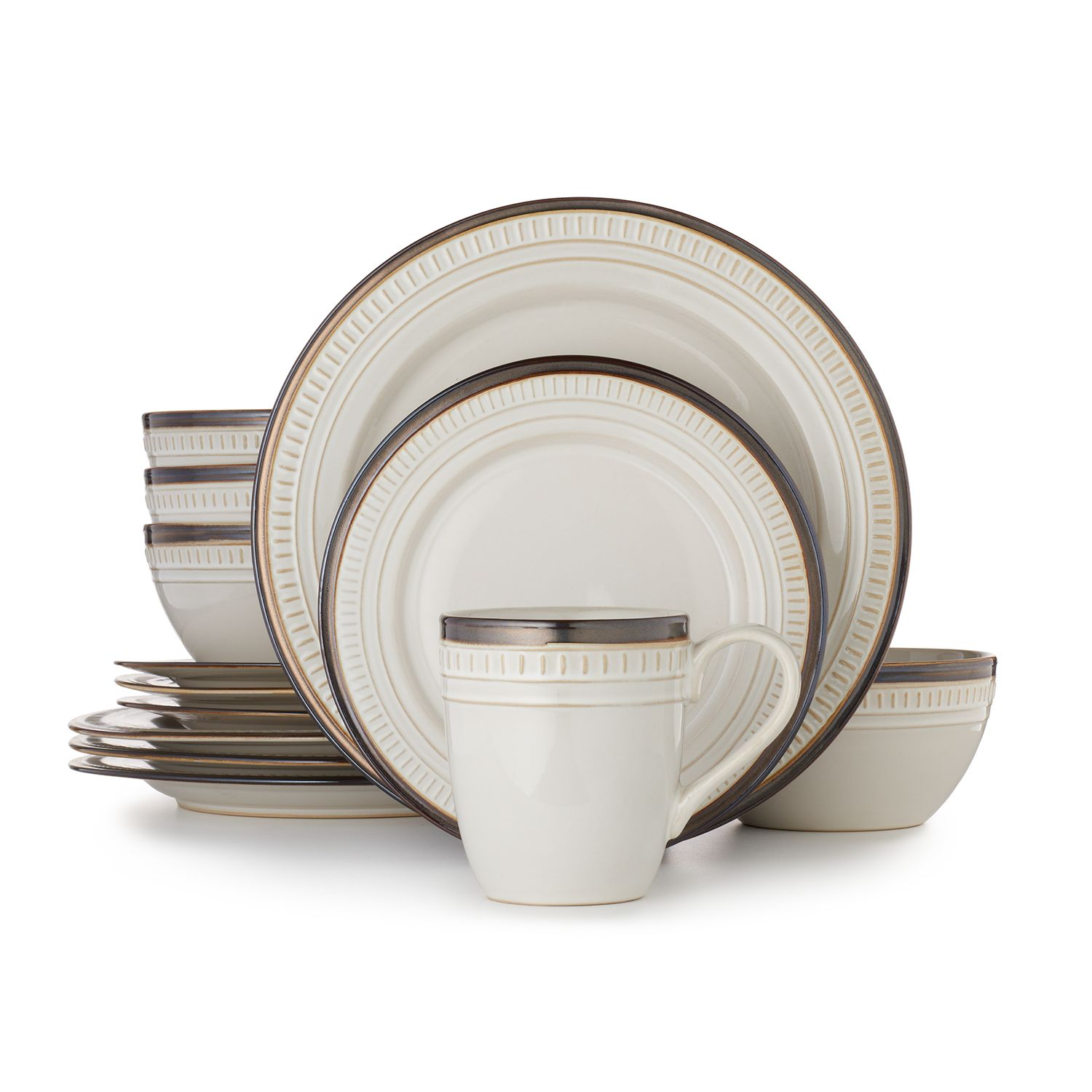 Dinnerware Set  sc 1 st  Kohl\u0027s & Network™ Biscotti 16-pc. Dinnerware Set