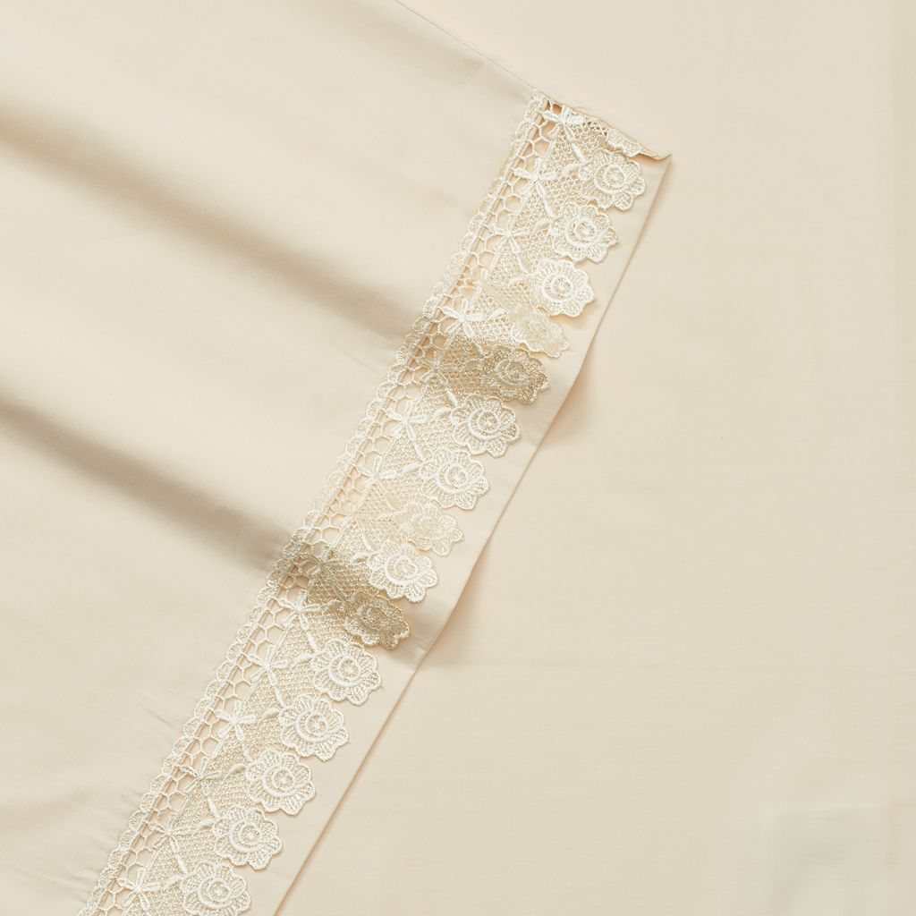 Downton Abbey 4-piece Countess Lace Sheet Set